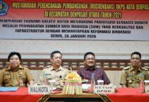 MUSRENBANG - Musrenbang RPKD Kota Denpasar di Kecamatan Denpasar Utara, Senin (20/1).