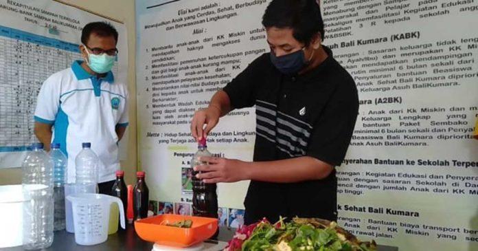 Di Karangasem, Sampah Organik Diolah Jadi Hand Sanitizer dan Disinfektan