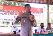 Polres Bangli Sosialisasi Prokes  Menuju Kebiasaan Baru di Susut