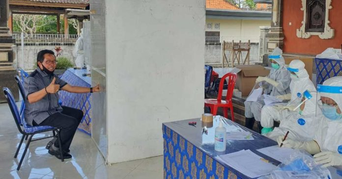 Warga yang Ikut Rapid Test Kedua di Abianbase Bertambah