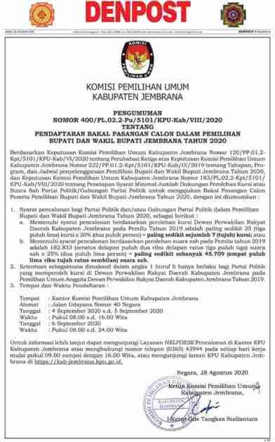 KPU Kabupaten Jembrana
