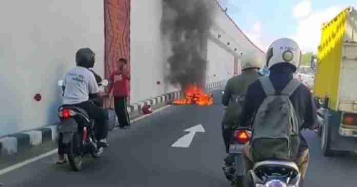 Tangki Bocor, Motor Ribut Terbakar