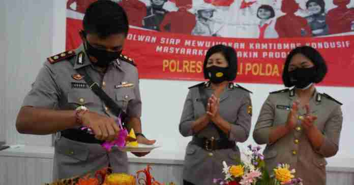 Peringati Hari Jadi ke-72 Polwan,  ''Srikandi'' Polres Bangli Gelar Syukuran Virtual