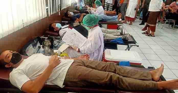 Kodim 1610 Klungkung Gelar Donor Plasma Konvalesen