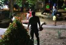 Satpol PP Bubarkan Kerumunan di Taman Kota Lumintang