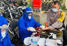 Usai Amankan Demo, Puluhan Personel Polres Badung Jalani Rapid Test