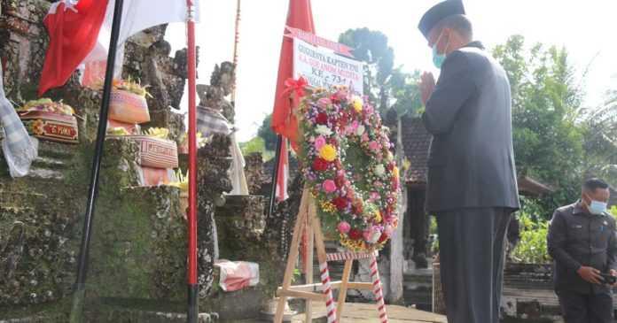 Bupati Bangli Pimpin Upacara Peringatan Gugurnya Kapten Mudita