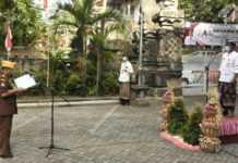 Peringatan Hari Pahlawan di Denpasar Terapkan Prokes Ketat