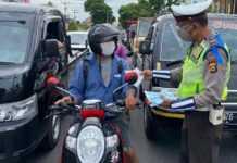 Ribuan Pengendara Berpeluang Dapat Masker Gratis dari Polantas