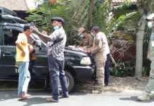 Satpol PP Karangasem Razia Prokes di Pinggiran Kota