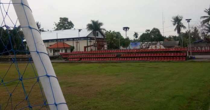 Kecipratan Sisa Proyek Stadion Dipta, Lapangan Astina Pun Ditata