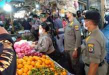 Tim Yustisi Razia Prokes di Pasar Tradisional