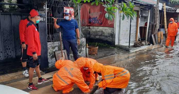 Dua Titik di Seminyak Terendam Banjir