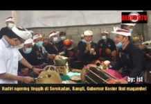 Hadiri ngenteg linggih di Desa Adat Serokadan, Bangli, Gubernur Bali Wayan Koster ikut magambel