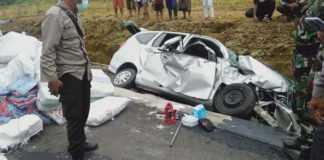 Kecelakaan Beruntun di Shortcut Pegayaman