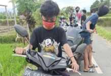 Polisi Bubarkan Pemuda Trek-trekan di Areal Sawah