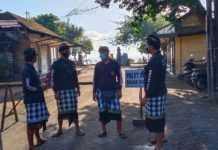 Satgas Larang Masyarakat Malukat ke Pantai Matahari Terbit