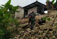 Tembok Penyengker Longsor, Sebuah Palinggih Tergerus