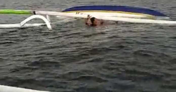 Tabrakan, Jukung Nelayan Kusamba Terbalik di Perairan Nusa Penida