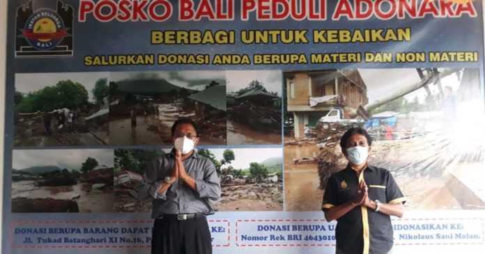 Lamaholot Bali Buka Posko Peduli Adonara