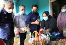 Menteri BUMN dan Dirut BRI Kunjungi Pengusaha Mikro di Lampung