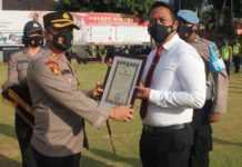 Sukses Ungkap Kasus, 20 Polisi di Gianyar Raih Penghargaan